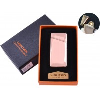 USB  зажигалка в подарочной упаковке (Спираль накаливания) №HL-25 Gold