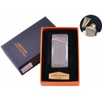 USB  зажигалка в подарочной упаковке (Спираль накаливания) №HL-25 Black