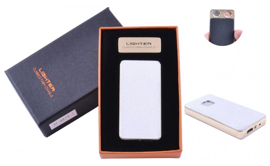 USB  зажигалка в подарочной упаковке (Две спирали накаливания) №XT-4879-1(4)