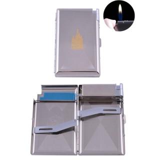 Портсигар + запальничка на 16 цигарок Церква (Звичайне полум'я) №XT-3304-6
