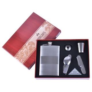 Подарочный набор 4в1 Moongrass Фляга/ Рюмки/ Нож/ Лейка №BB-014