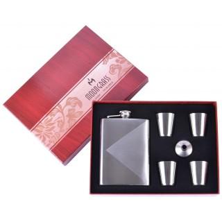 Подарочный набор 6в1 Moongrass Фляга/ Рюмки/ Лейка №BB-018