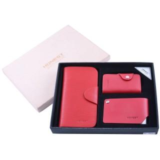 Подарочный набор 3х1 Портмоне/ Визитница/ Ключница №XT-3044