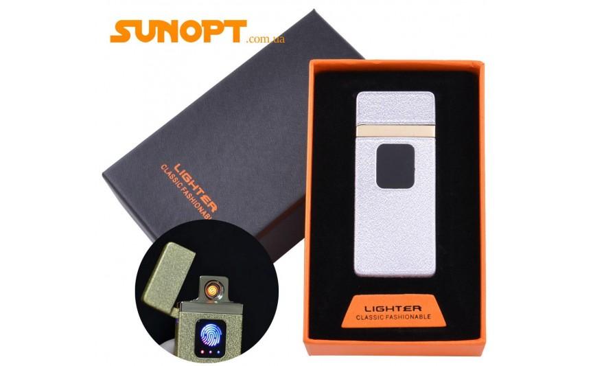 USB зажигалка в подарочной упаковке Lighter (Спираль накаливания) №HL-7 White