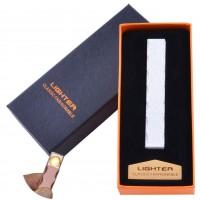 USB  зажигалка в подарочной упаковке Lighter (Спираль накаливания) №HL-47 White