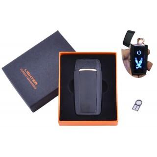 USB  зажигалка в подарочной упаковке Орел (Спираль накаливания) №HL-55 Black