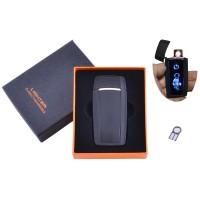 USB  зажигалка в подарочной упаковке Тигр (Спираль накаливания) №HL-55 Black