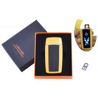 USB  зажигалка в подарочной упаковке Орел (Спираль накаливания) №HL-55 Gold