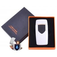 USB  зажигалка в подарочной упаковке Lighter (Спираль накаливания) №HL-57 White