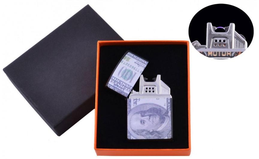 USB  зажигалка 100$ (Электроимпульсная) №4776B-3