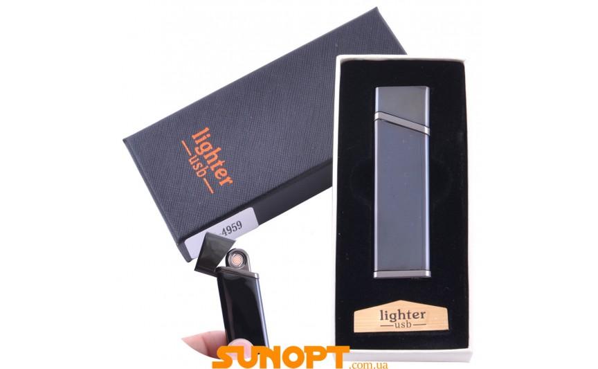 USB  зажигалка в подарочной упаковке Lighter (Спираль накаливания) №XT-4959-2