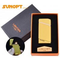USB зажигалка в подарочной упаковке Lighter (Спираль накаливания) №HL-18 Gold