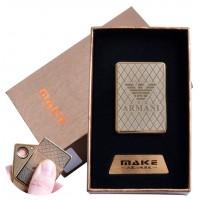 USB зажигалка-слайдер в подарочной коробке  (спираль накаливания) №4693B-4