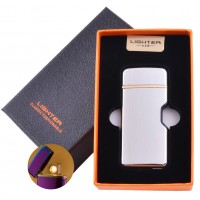 USB зажигалка в подарочной коробке Lighter №HL-114 White