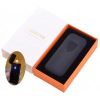 USB зажигалка в подарочной коробке Lighter №HL-134 Black матовый