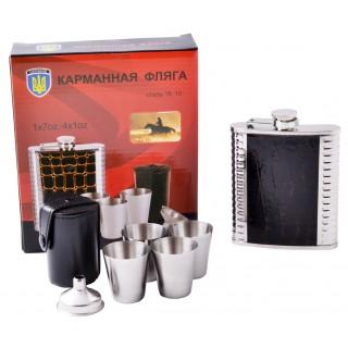 Подарунковий набір з флягою для чоловіків №QK18-6