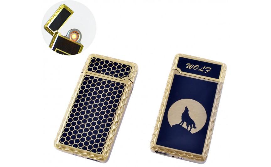 USB зажигалка Волк (Спираль накаливания) №HL-140-2