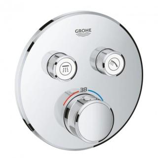 Панель термостата для встраиваемого монтажа на 2 выхода Grohe SmartControl 29119000