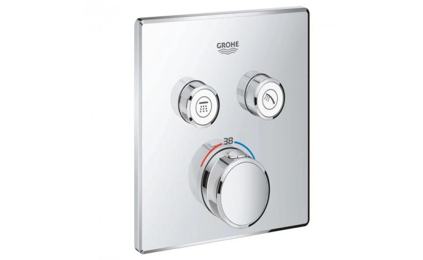 Панель термостата для встраиваемого монтажа на 2 выхода Grohe Grohtherm SmartControl 29124000