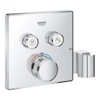 Внешняя часть термостатического смесителя для душа Grohe Grohtherm SmartControl 29125000 на два потребителя