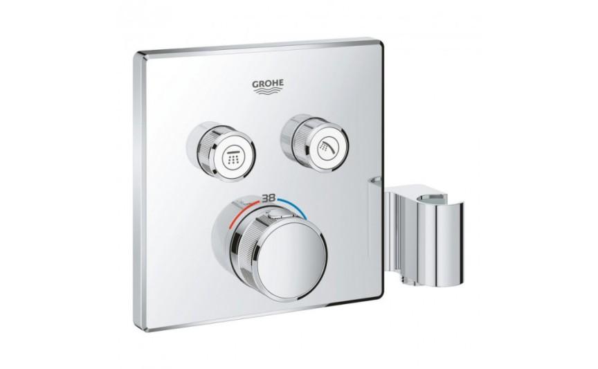 Термостат для скрытого монтажа на 2 выхода с держателем Grohe Grohtherm SmartControl 29125000