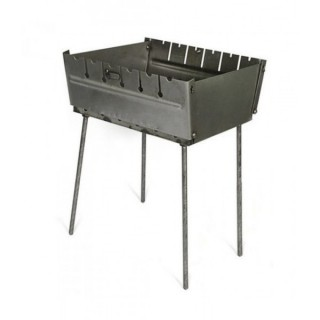 Мангал - чемодан 2 мм. на 6 шампуров