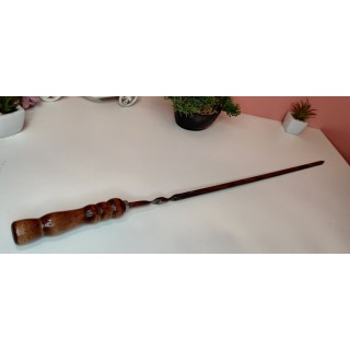 Шампур з нержавійки з дерев'яної полакованою ручкою