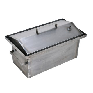 Коптильня гарячого копчення 1,0 мм 450х260х210мм Гідрозатвор