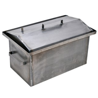 Коптильня гарячого копчення 1,0 мм 520х310х260мм Гідрозатвор