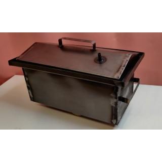 Коптильня гарячого копчення 1,0 мм 445х26х21 см водозатвір