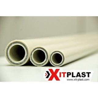 Поліпропіленові труби Fiber Hit Plast pn20 d20 зі скловолокном