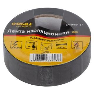 Ізолента ПВХ (чорна) 0,13 ммх19ммх10 м Sigma (8413601)