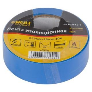 Ізолента ПВХ (синя) 0,13 мм×19мм×10м Premium Sigma (8411401)
