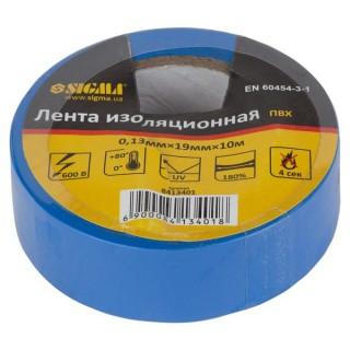 Ізолента ПВХ (синя) 0,13 ммх19ммх10 м Sigma (8413401)