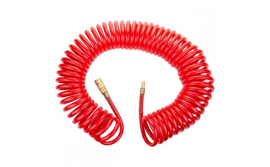 Шланг спиральный полиуретановый (PU) армированный 15м 8×12мм Refine (7013531)