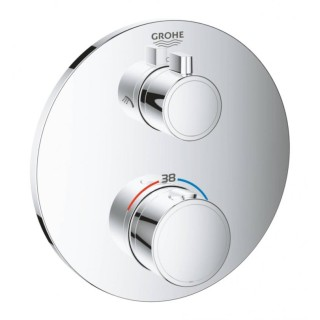 Внешняя часть термостатического смесителя для душа Grohe Grohtherm 24076000 на два потребителя