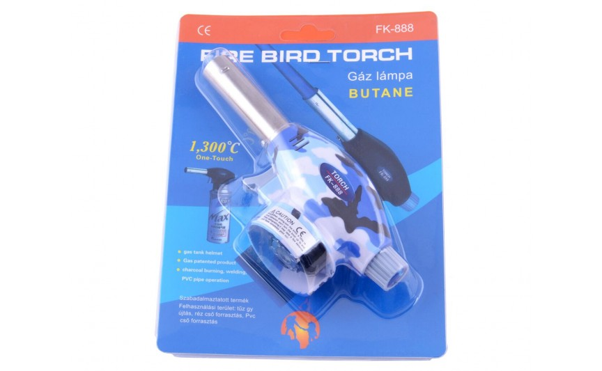 Газовий пальник хакі TORCH №888 Синій