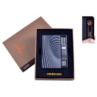 Портсигар + USB запальничка з викиданням цигарок