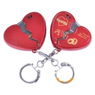 Зажигалка карманная-брелок сердце (обычное пламя) №4117-2