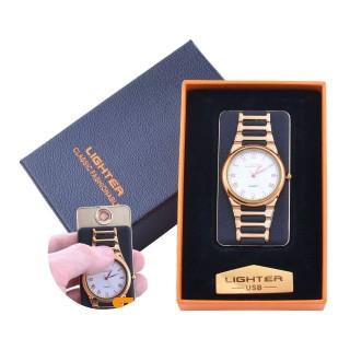 USB  Запальничка з годинником в подарунковій упаковці LIGHTER (Cпіраль розжарювання) №XT-4956-1
