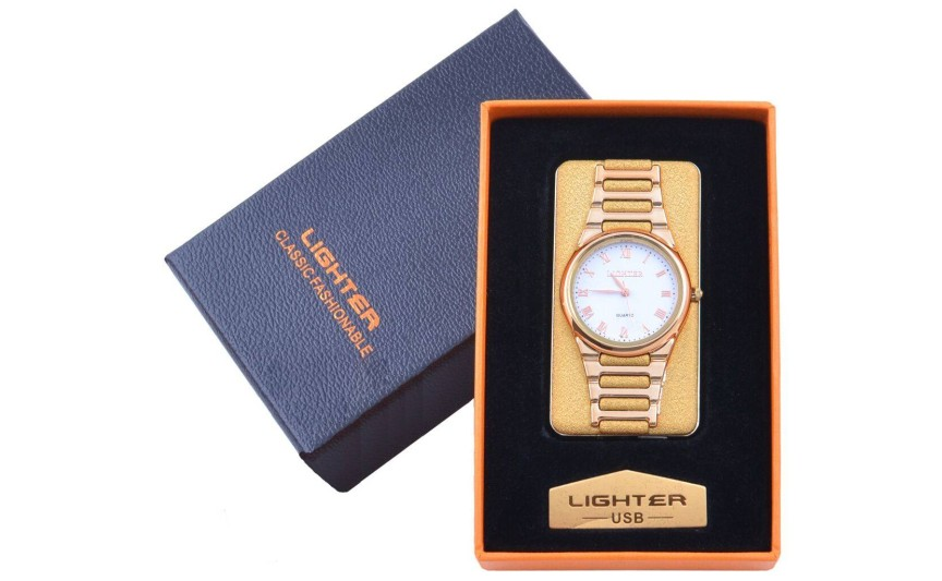 USB  Запальничка з годинником в подарунковій упаковці LIGHTER (Cпіраль розжарювання) №XT-4956-2