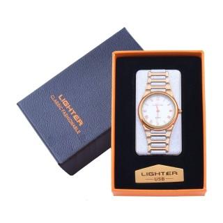 USB  Запальничка з годинником в подарунковій упаковці LIGHTER (Cпіраль розжарювання) №XT-4956-3