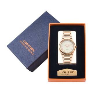 USB  Запальничка з годинником в подарунковій упаковці LIGHTER (Cпіраль розжарювання) №XT-4957-1