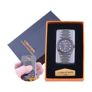 USB  Запальничка з годинником в подарунковій упаковці LIGHTER (Cпіраль розжарювання) №XT-4957-3