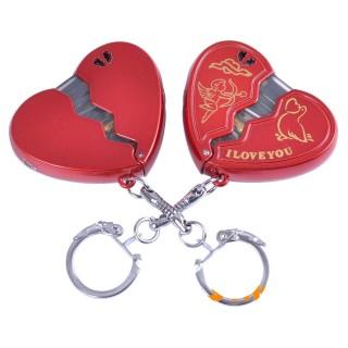 Зажигалка карманная-брелок сердце (обычное пламя) №4117-1