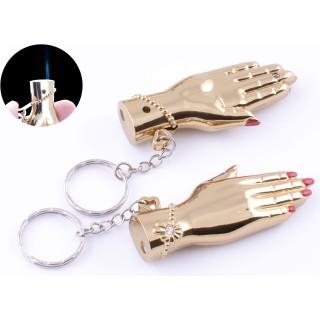 Зажигалка карманная-брелок Женская рука (Острое пламя) №4150-1