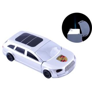 """Зажигалка кремниевая """"Porsche Cayenne"""" (Острое пламя) №4448 Silver"""