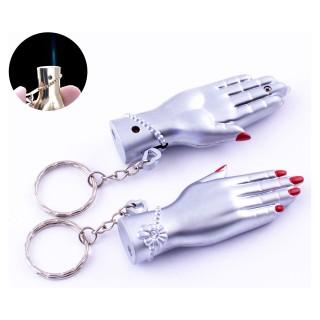 Зажигалка карманная-брелок Женская рука (Острое пламя) №4150-2