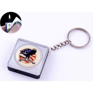 Зажигалка карманная-брелок квадрат США №2312-8