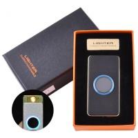 USB зажигалка-слайдер в подарочной упаковке Lighter (Спираль накаливания) №HL-11 Black